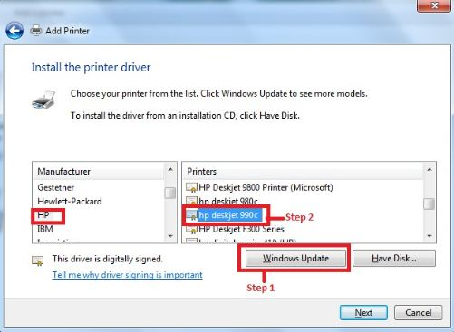Printer Driver for Windows