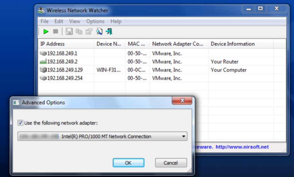 Wireless Network Watcher Program